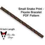 Seed Bead Bracelet Pattern, Small Snake Print, Two Drop Even Count Peyote Pattern