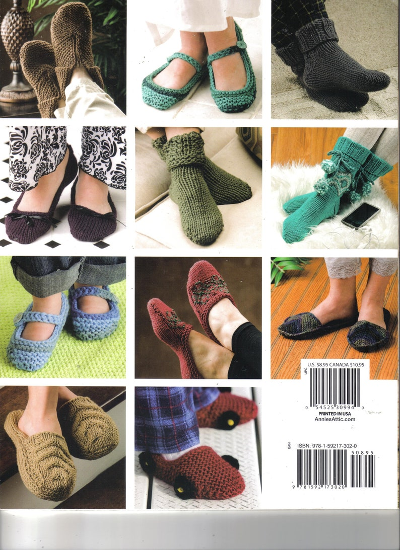 e4dad184df93 Knit a Dozen Plus Slippers Knitting Book New House of