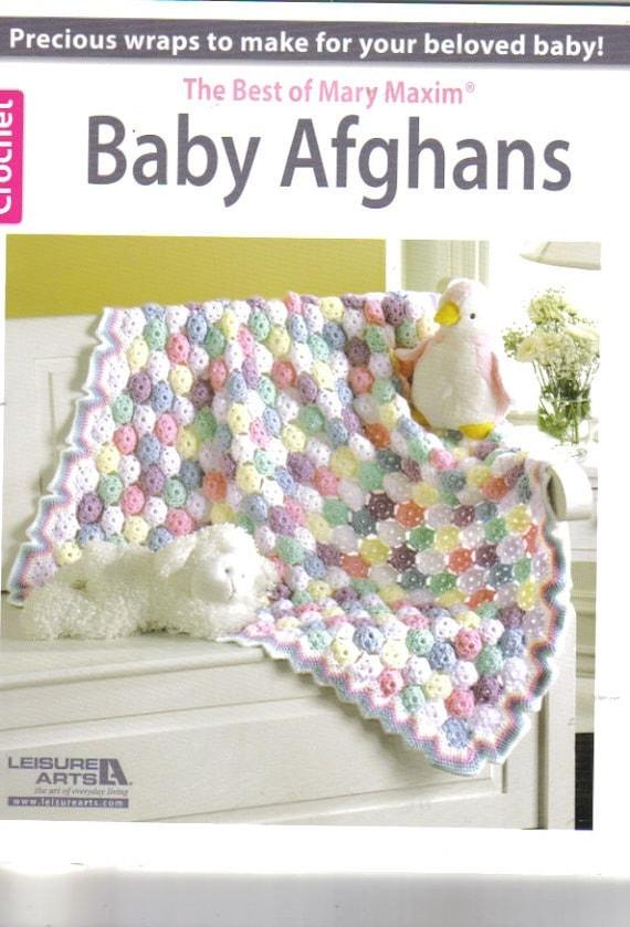 Lo mejor de Mary Maxim bebé afganos libro de ganchillo | Etsy
