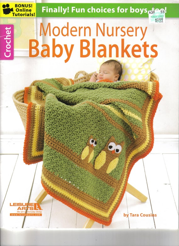 Modern Nursery Baby Blankets Crochet Book Leisure Arts Etsy