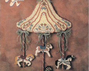 Carousel Menagerie plastic canvas book ~ Annie's Attic