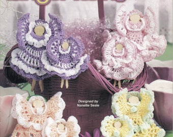 Clothespin Angel Twins ~  Crochet Book  ~  Annie's Attic