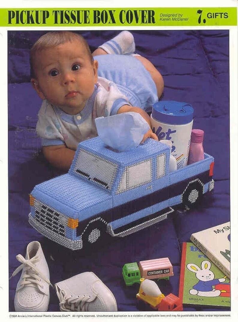 Pickup Truck Tissue Box Cover ~    plastic canvas pattern