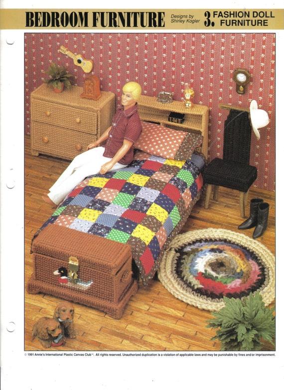 Fashion Doll Kenu0027s Bedroom Furniture Plastic Canvas | Etsy