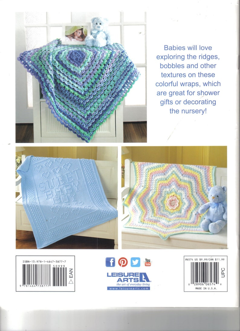 Terrific-to-Touch Baby Afghans ~ Crochet Book ~ Mary Maxim