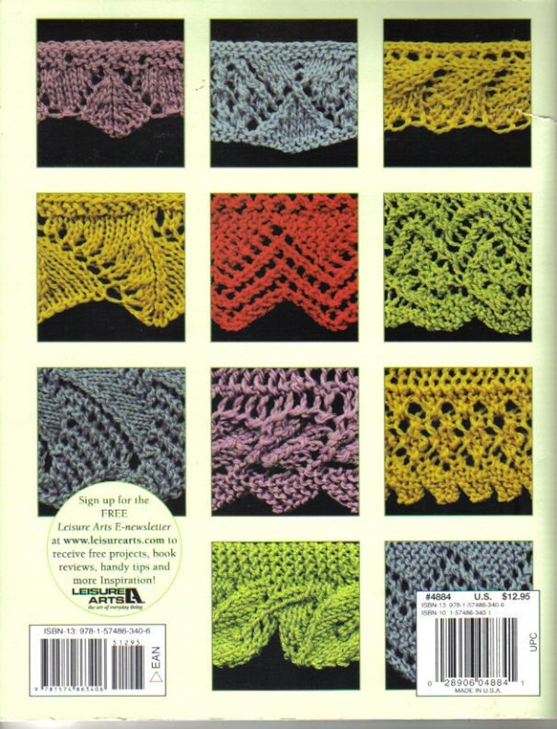50 Fabulous Knitted Borders Reference Book Leisure Arts Etsy