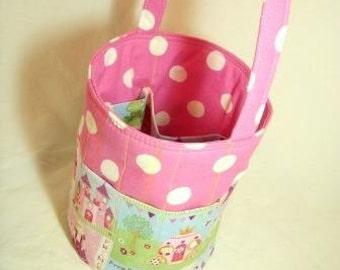 Creative Kids Art Bucket - Sweet Little Princess - Fabric Basket Organizer - Easter Basket - READY TO SHIP