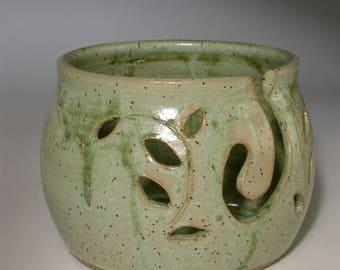 Stoneware pottery yarn bowl