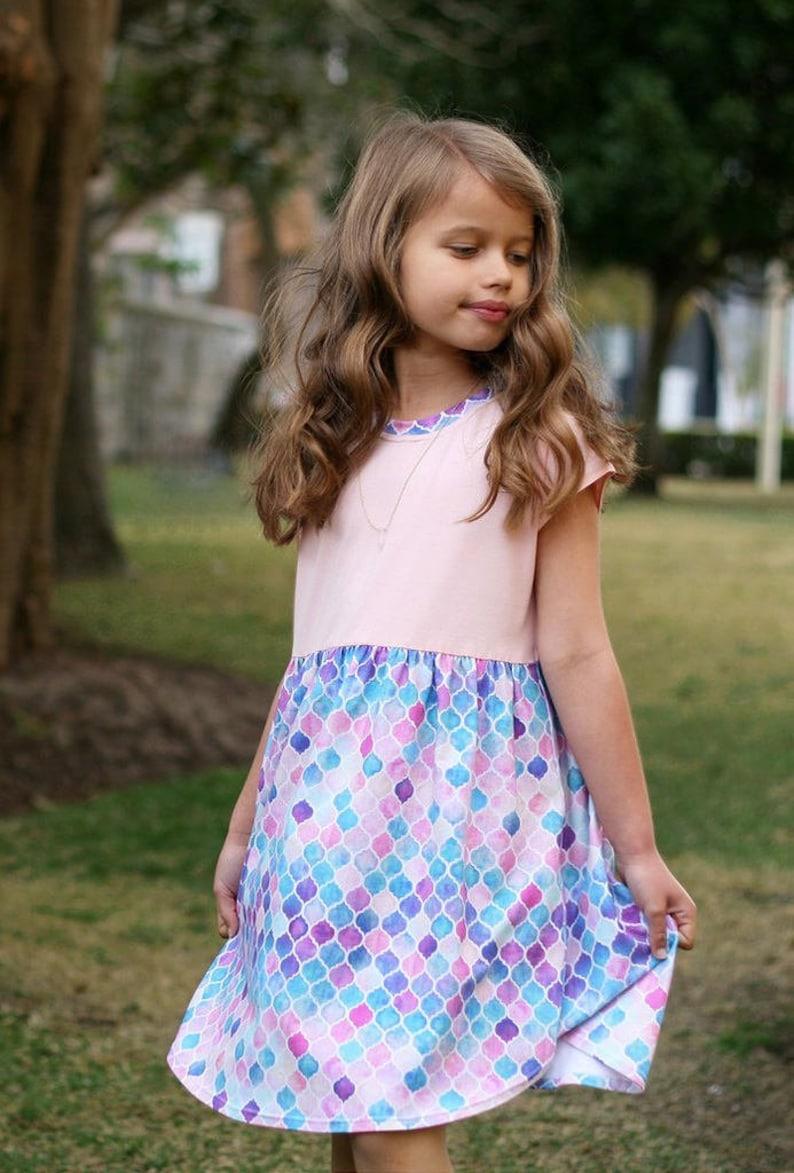 8c77058f74ad Pearlie Dress Everyday Tee Shirt Dress & Peplum Top Pdf Sewing | Etsy