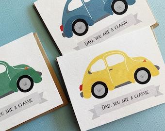 VW Love Bug Wedding Congratulations 3D POP Up Box Card
