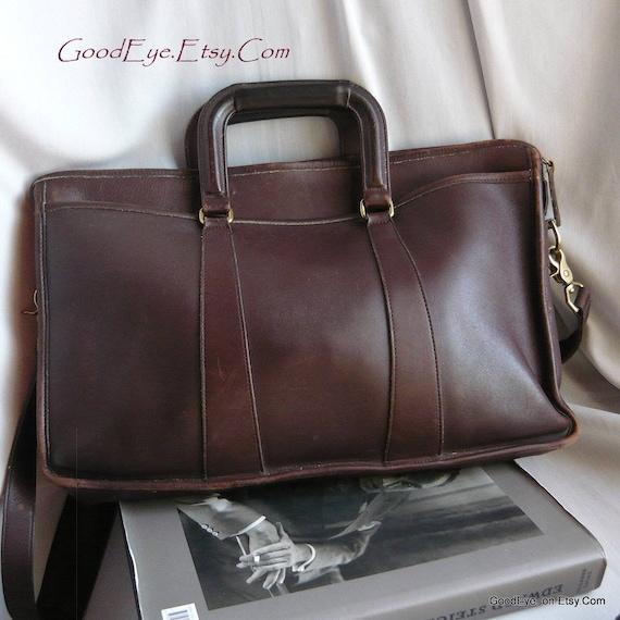 df948710facf Vintage COACH Briefcase Shoulder Bag   Large Double Handle