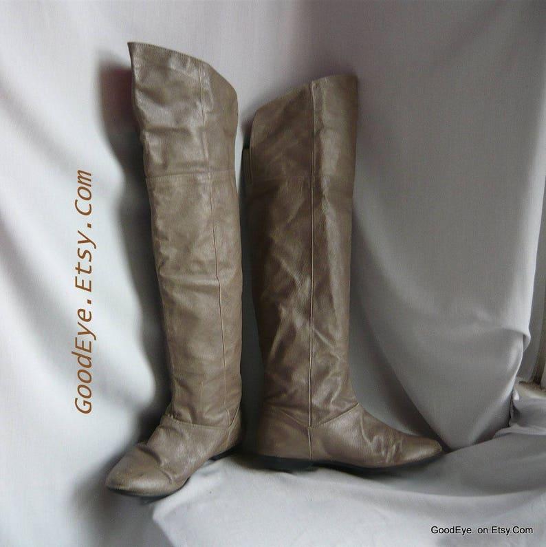 b5a345c965a865 Größe 75 Vintage hoch über Slouch Stiefel   Sz Eur 38 UK 5