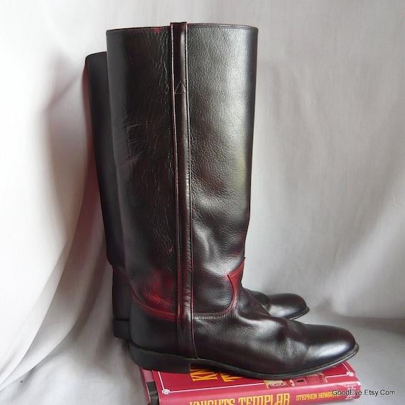 Size 9 .5 Vintage Justin Riding Boots / Eu 41 UK 6