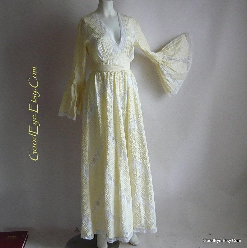 603459e3ecf ROMANTIC Pintuck Mexican Wedding Dress Maxi   size 4 6 8 small