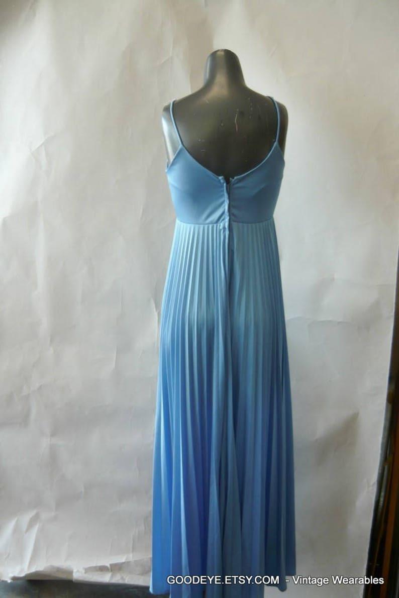 143326e9f6 Vintage Prom Maxi Dress w Shrug Jacket   Accordion Pleats