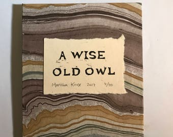 A Wise Old Owl - Black and White Version