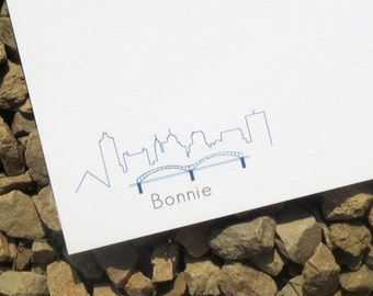Memphis Skyline Personalized Gift - Notecards - Personalized Gift - Cityscape