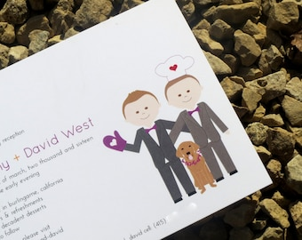 Gay Wedding Invitations - Custom - Wedding Invitations - Same Sex Invite