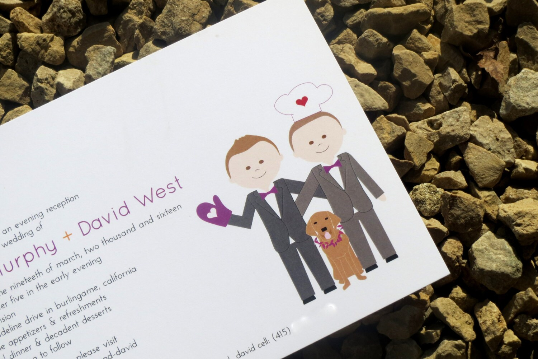 Gay Wedding Invite: Gay Wedding Invitations Custom Wedding Invitations Same