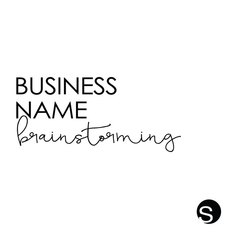 Business Name Brainstorming Business Name Name your image 0