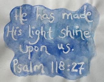 Watercolor Verse Psalm 118:27