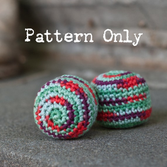 Pattern Hacky Sack Crochet Pattern Easy Pattern Digital Etsy