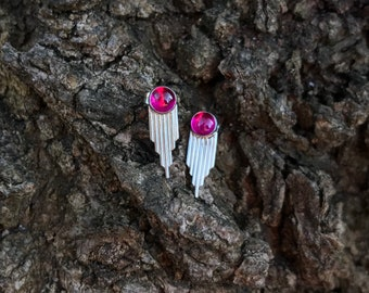 Warrior Ruby Stud Earrings