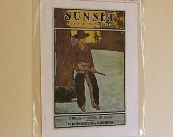 Vintage Nostalgia Print Sunset Magazine 1970s NIP Advertising Art