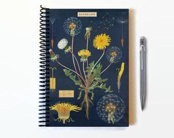 Dandelion Flower, A5 Notebook Spiral Bound
