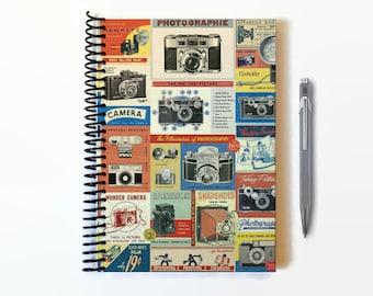 Vintage Cameras, A5 Notebook Spiral Bound