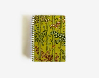 Bamboo Grove, Japanese Design, A6 Notebook Spiral Bound, White Blank Pages
