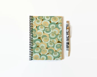 Japanese Parasols, Umbrellas Composition, A6 Notebook Spiral Bound, White Blank Pages