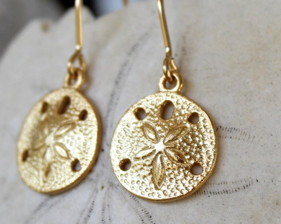 Little Sand Dollar gold filled earrings
