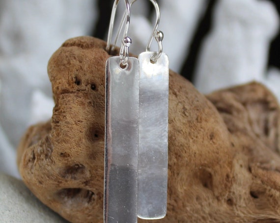 Still Waters sterling silver bar earrings