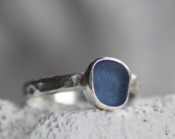 Sea Sprite sea glass stacking ring in your choice of colour