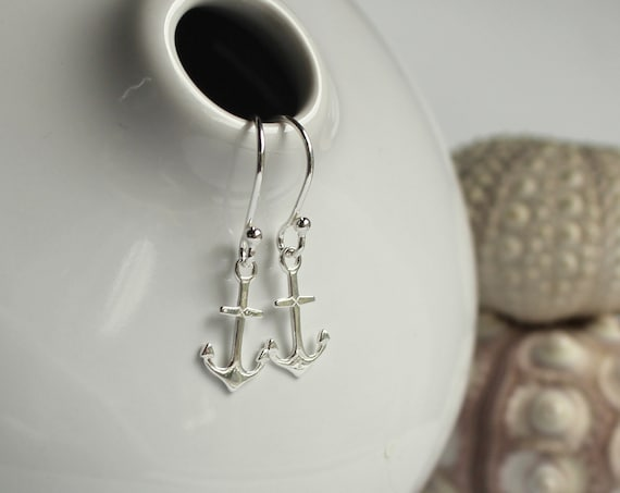 Little Anchor earrings in sterling silver