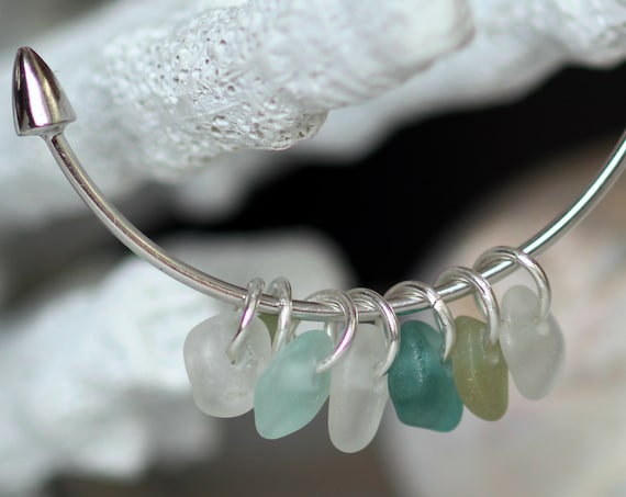 Sea Sceptre sea glass bracelet in ocean greens
