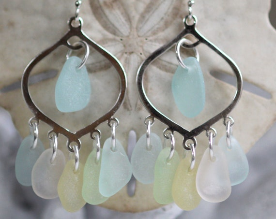 Diviner sea glass earrings in pretty pastels