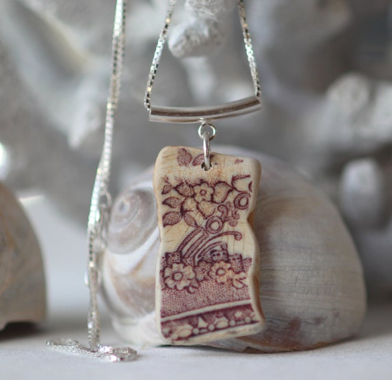 Sea Story sea pottery necklace