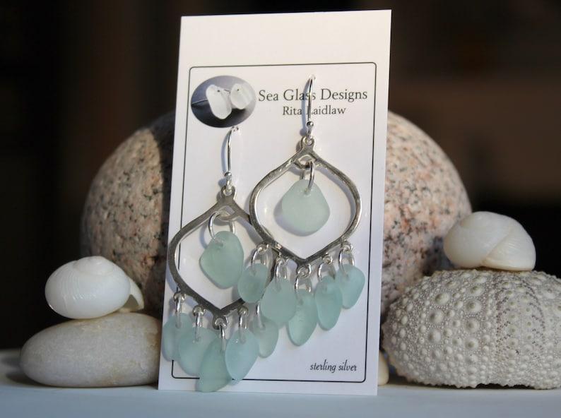 sea glass jewelry mermaids tears gypsy earrings gift for her beach wedding earrings Bohemian earrings large chandelier earrings