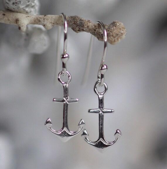 Little Anchor earrings in sterling silver