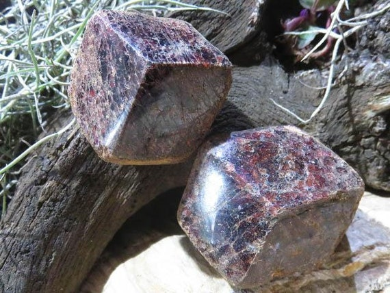 Des cristaux de grenat, grenat Pyrope, poli une Face - Madagascar