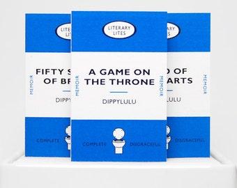 Stocking stuffer humorous gift matchbook set of Literary Lites VI. Funny gag gift.