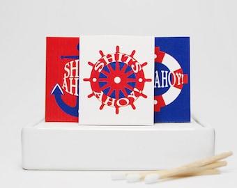 Stocking stuffer joke gag gift bathroom matchboxes MATURE -- Harbour Lites. Shits ahoy boat lovers gift. Hello sailor!