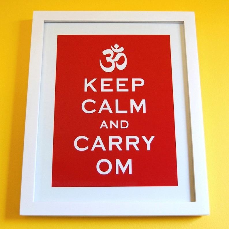 ON MEGA SALE Keep Calm and Carry On parody 8 x 10 print  A image 0