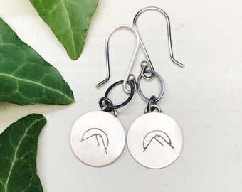 Mountains and Sunset Earrings