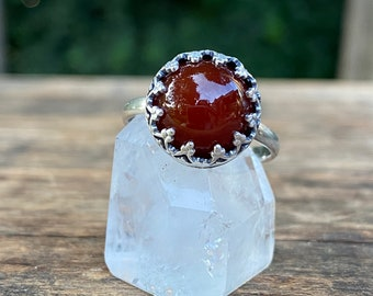 Carnelian Ring, Sterling Silver Carnelian Ring - Made To Order