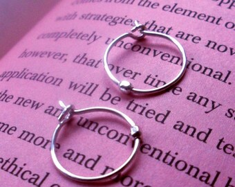 Simply Spinnerette Reclaimed Whisper Thin Sterling Silver Hoops - Itsy Bitsy Size