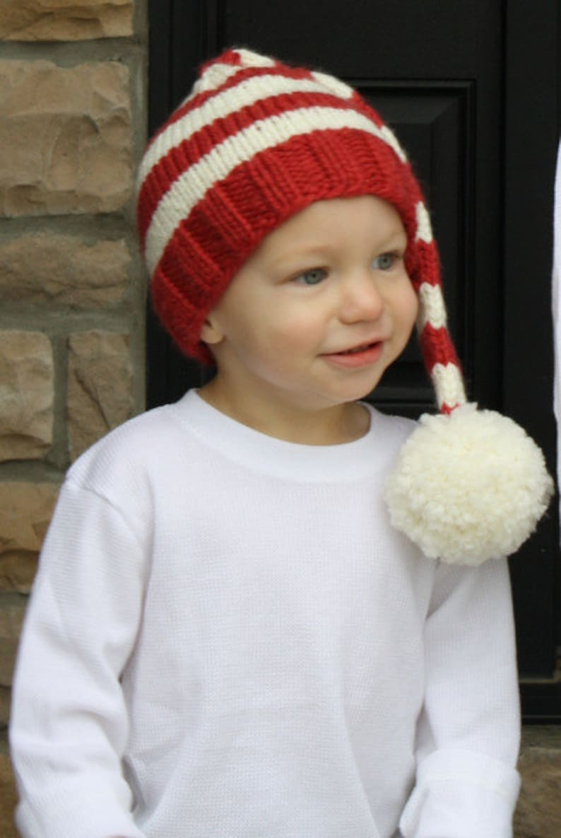 0ebc0fd70ec05 PDF Pattern for Bulky Weight Knit Christmas Stocking Hat 10
