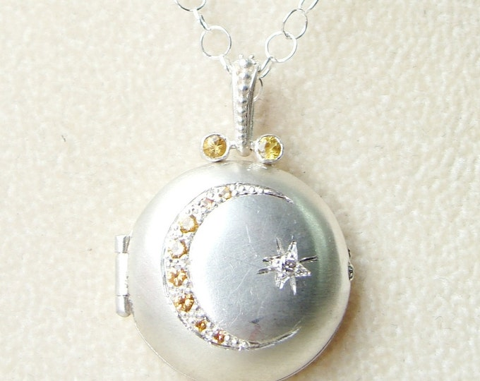 Silver Moon locket